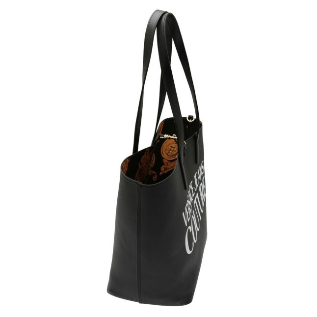Womens Black Jewel Branded Reversible Shopper