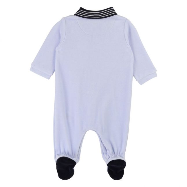 Baby Pale Blue Soft Tipped Collar Babygrow