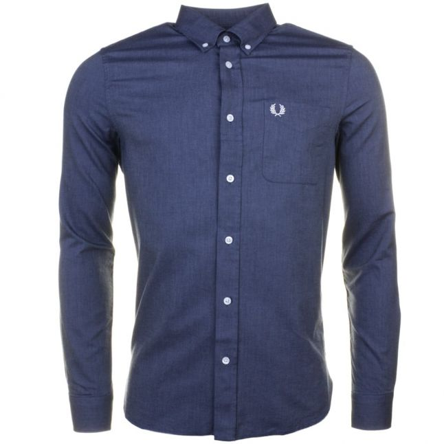 Mens Dark Carbon Classic Oxford L/s Shirt