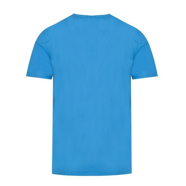 Athleisure Mens Blue Tee Raised Logo S/s T Shirt