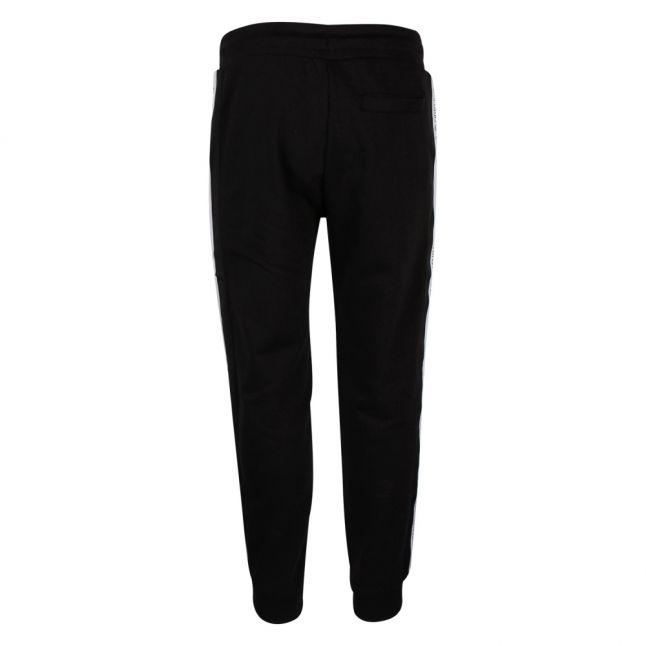 Mens Black Branded Trim Sweat Pants
