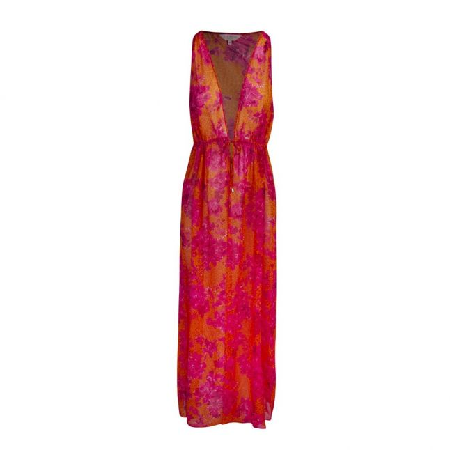 Womens Bright Pink Rosaliy Full Cover Up