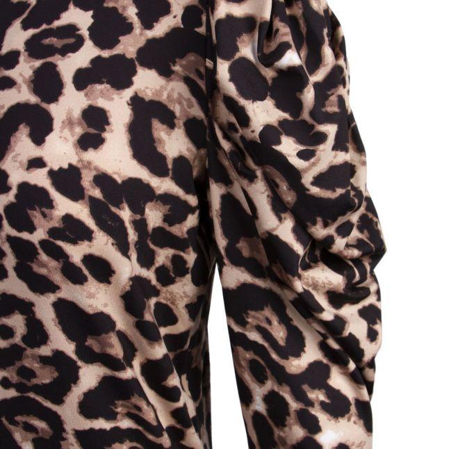 Womens Nomad Leopard Vileoa Puff Sleeve Dress