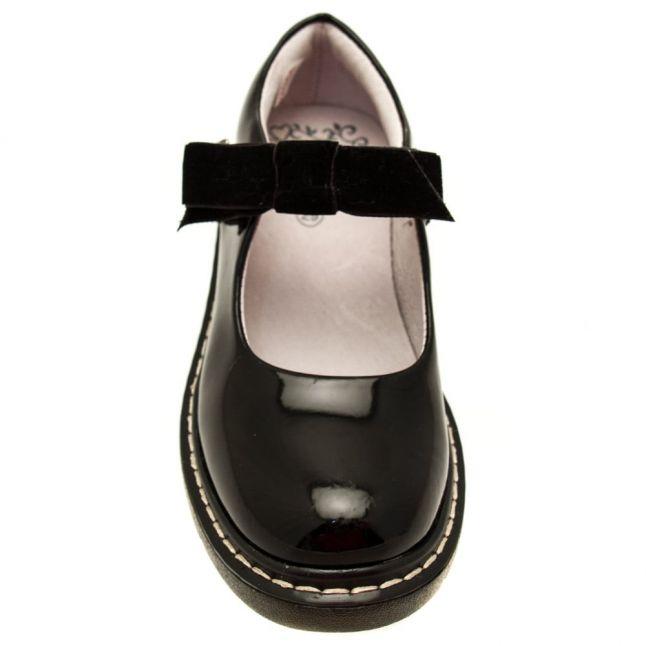 Girls Black Patent Frankie Shoes (26-38)