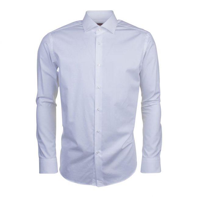 Mens Open White C-Gordon Regular Fit L/s Shirt