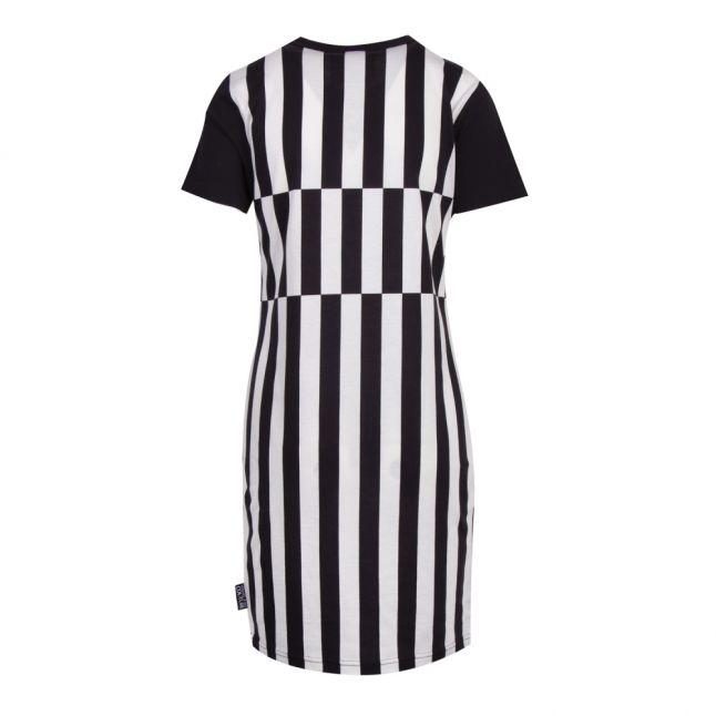 Womens White Colour Jewel Stripe S/s Dress