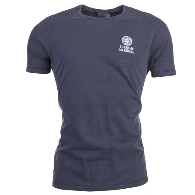 Mens Washed Black Small Logo S/s Tee Shirt