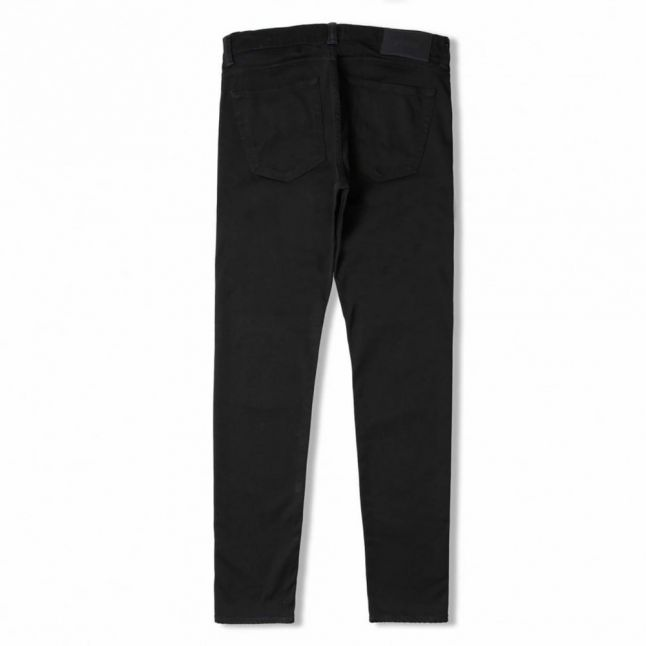 Mens Rinsed Wash ED85 Slim Tapered Fit CS Ink Black Jeans