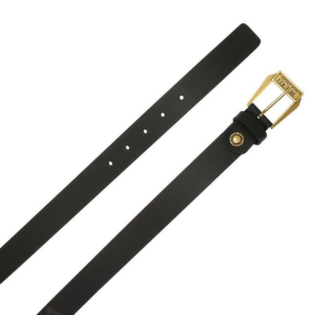 Mens Black Logo Buckle Belt