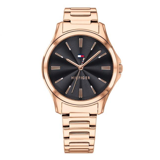 Womens Rose Gold/Black Lori Bracelet Watch