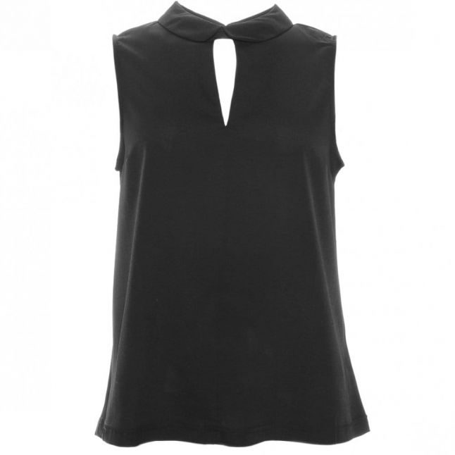 Womens Black Penny Plains Collared Top