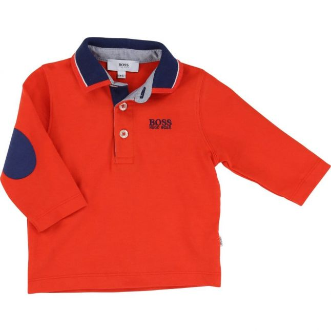 Baby Red Tipped Collar L/s Polo Shirt