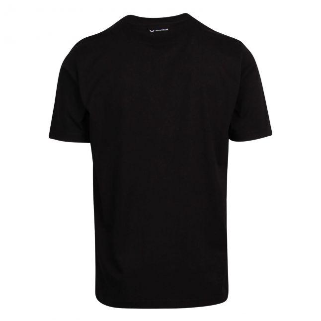 Mens Jet Black Polygon Quilt Pocket S/s T Shirt