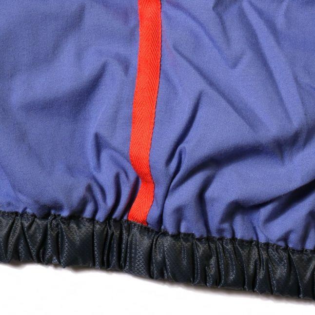 Boys Navy Branded Hooded Jacket