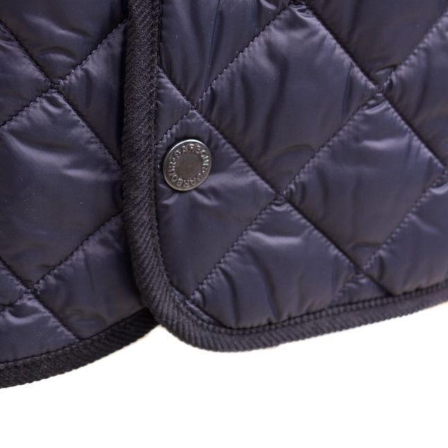 Heritage Womens Navy Quilted Border Jacket