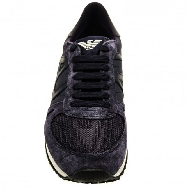 Mens Blue Logo Trainers
