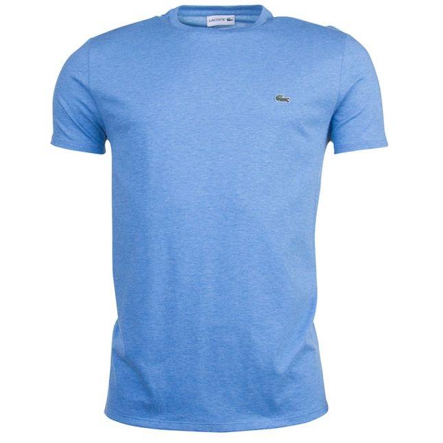 Mens Horizon Blue Basic Regular Fit S/s Tee Shirt