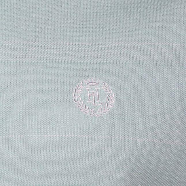 Mens Cambridge Blue Oxford Regular Fit S/s Polo Shirt