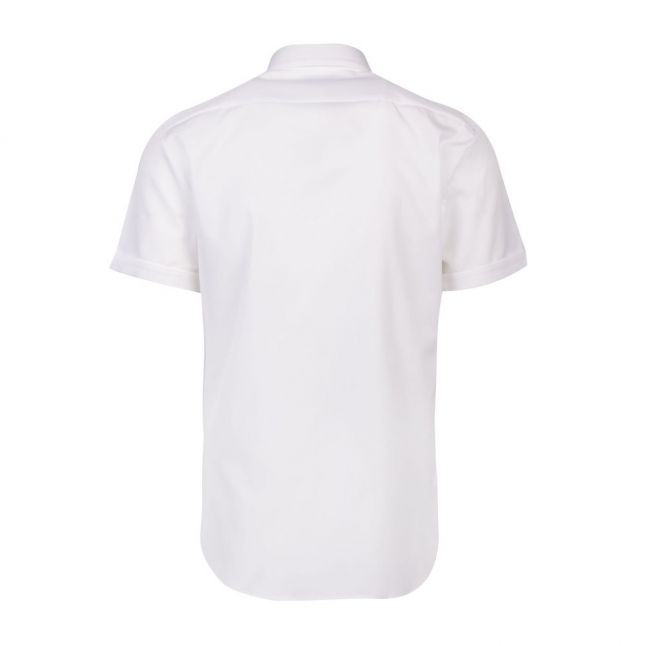 Mens White Empson-W Extra Slim Fit S/s Shirt
