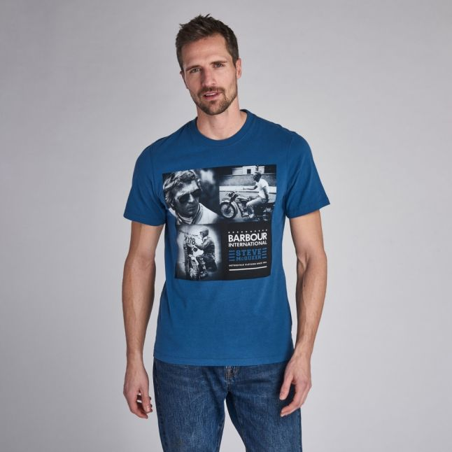 Mens Washed Ink Triple S/s T Shirt