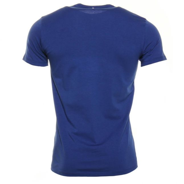 Mens Blue Letters Logo S/s Tee Shirt