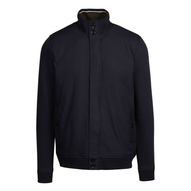 Mens Navy Pressup Zip Through Jacket
