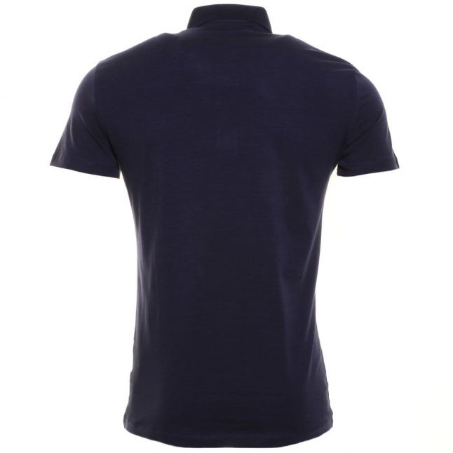 Mens Blue Marine Silver Label Jersey S/s Polo Shirt