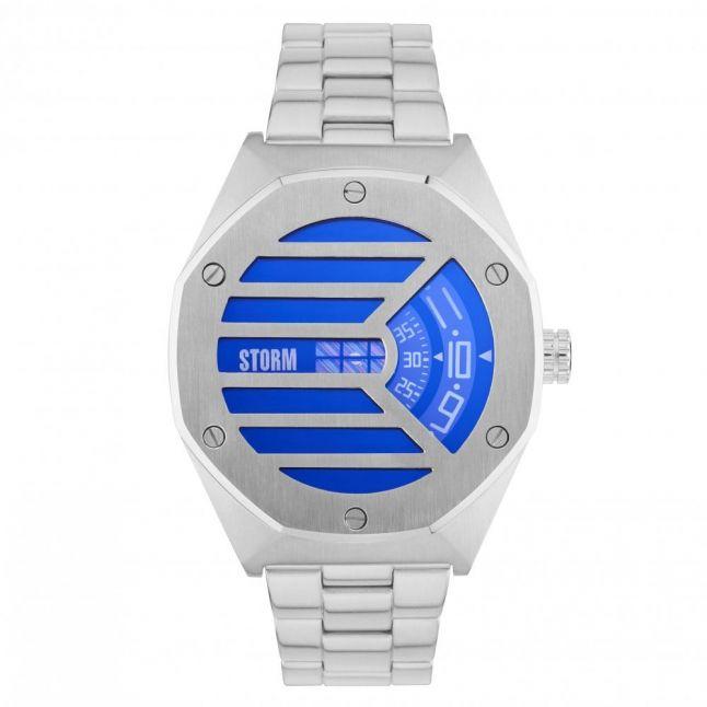 Mens Lazer Blue Dial Silver Vaultas Watch