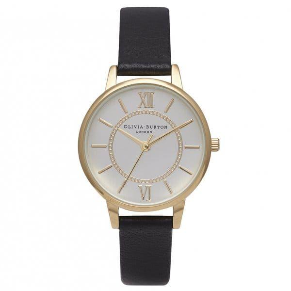 Womens Black & Gold Wonderland Watch
