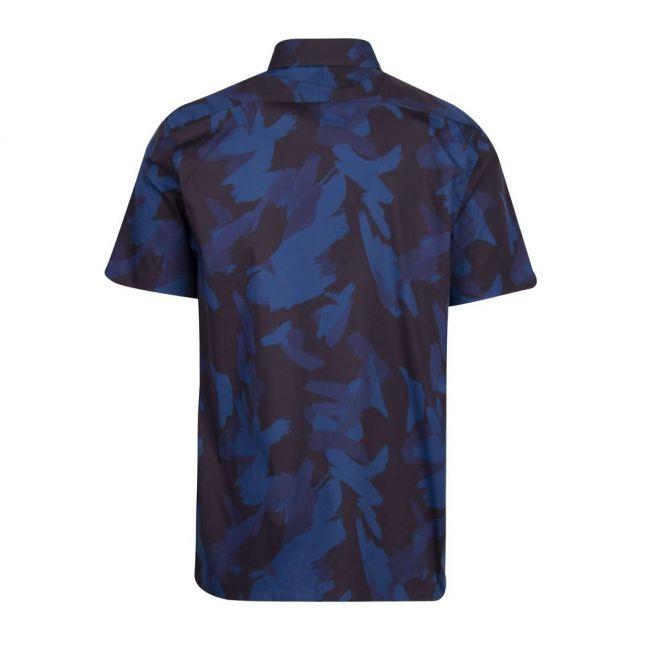 Mens Navy Playo Camo Print S/s Shirt