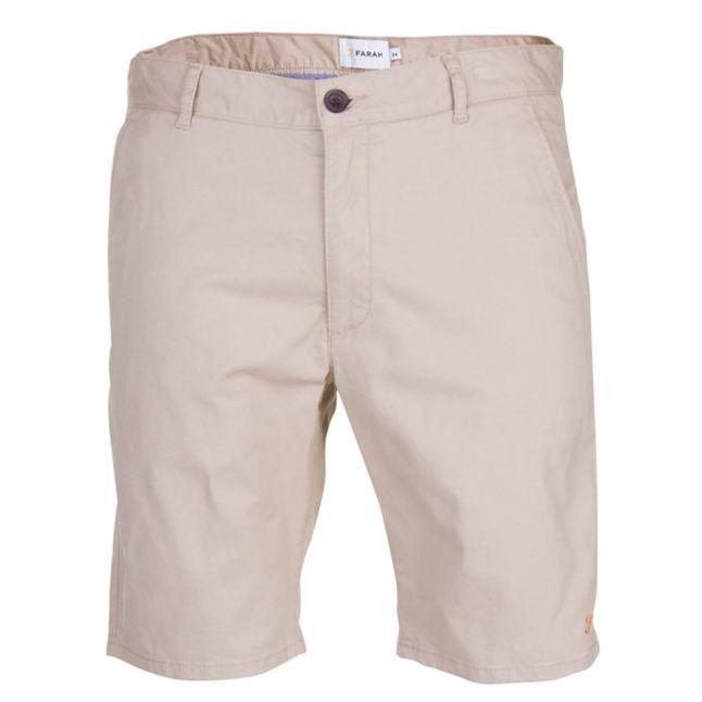 Mens Light Sand Chino Twill Shorts
