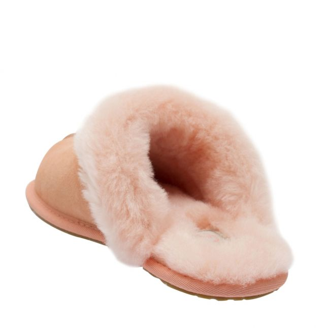 Womens Beverly Pink Scuffette II Slippers