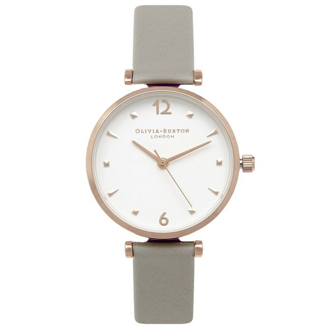 Womens Grey & Gold Modern Vintage T-Bar Watch
