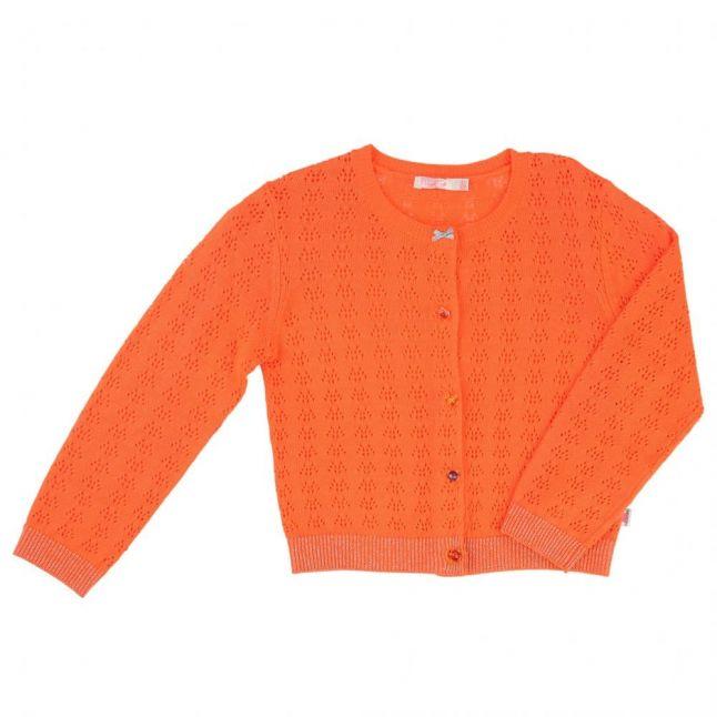 Girls Orange Knitted Cardigan