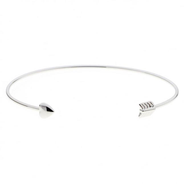 Womens Silver Carise Fine Cuff Bracelet