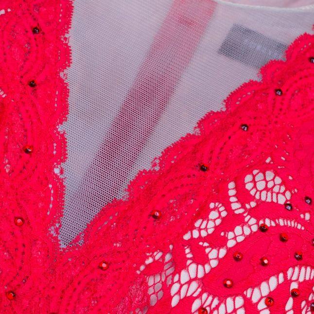 Womens Red Paloma Lace Dress