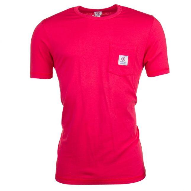 Mens Campus Red Pocket Logo S/s Tee Shirt