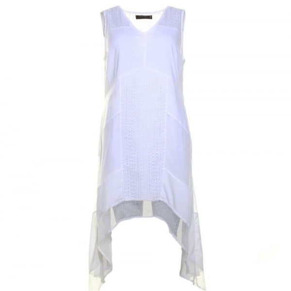 Womens White Abstract Maxi Dress