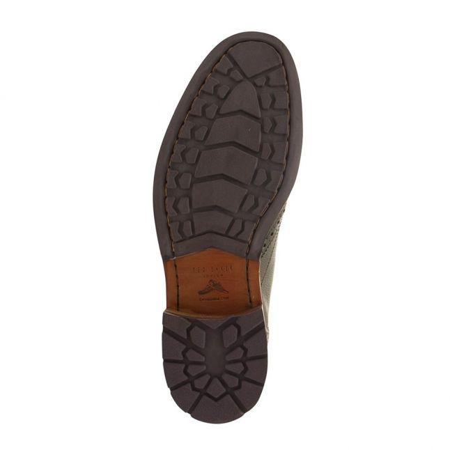 Mens Black Cassius 4 Leather Brogues