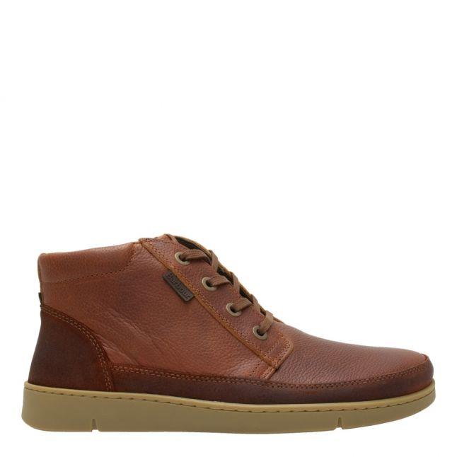 Mens Cognac Wombat Grain Boots