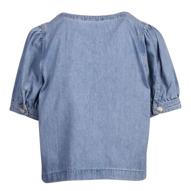 Womens Loosey Goosey Blue Bryn Denim Top