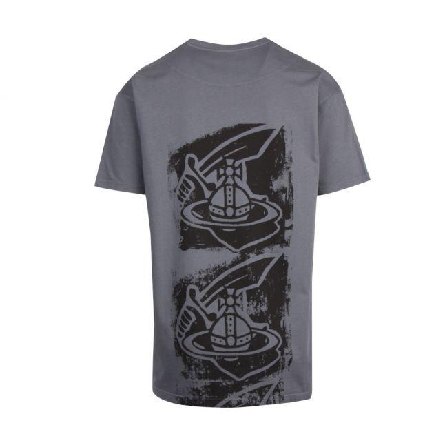 Anglomania Mens Grey New Boxy Back Print S/s T Shirt