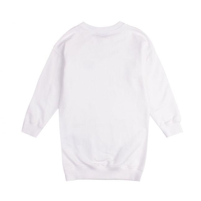 Moschino Girls White Couture Logo Dress