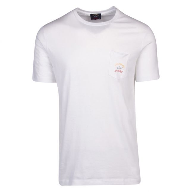Mens White Classic Pocket Custom Fit S/s T Shirt