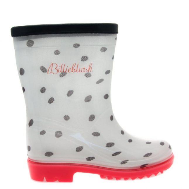 Girls Assorted Dot Wellington Boots (23-33)