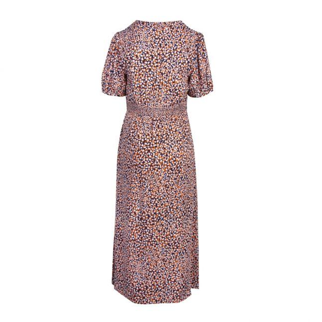 Womens Jaffa Orange Cade Drape Button Front Dress