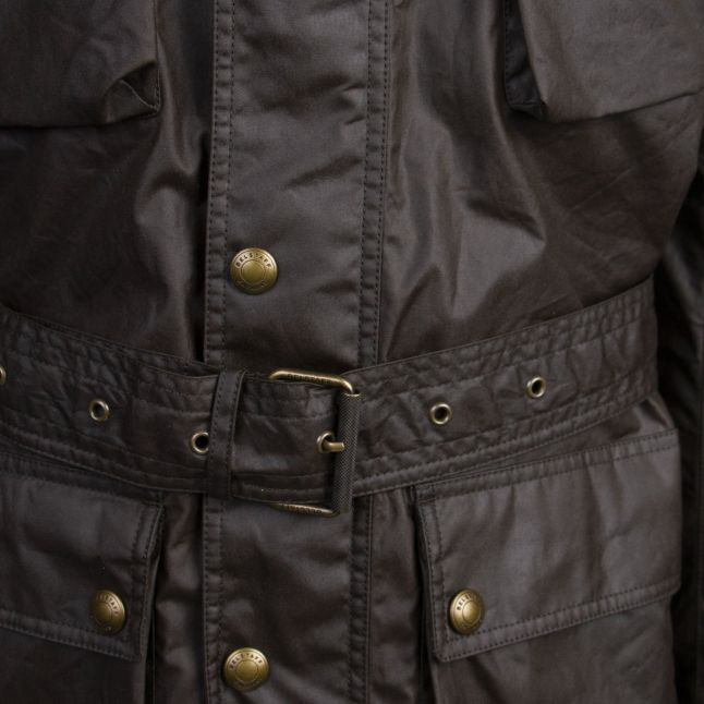 Mens Faded Olive Trialmaster 6oz Waxed Jacket