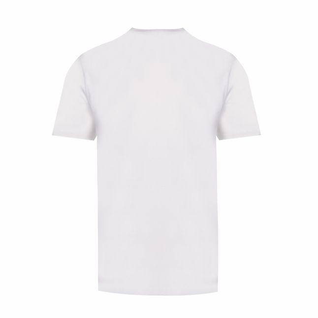 Mens White Housemark Floral Logo S/s T Shirt