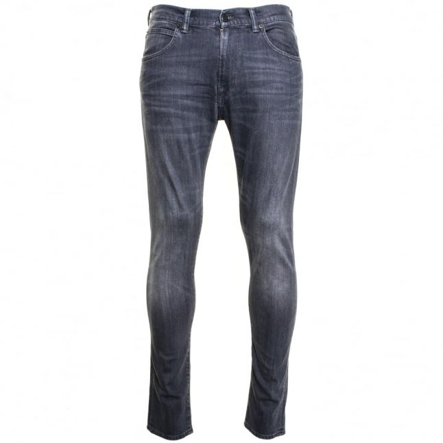 Mens 11.5oz F8DT Grey Dark Trip Wash ED-85 Slim Tapered Low Crotch Jeans