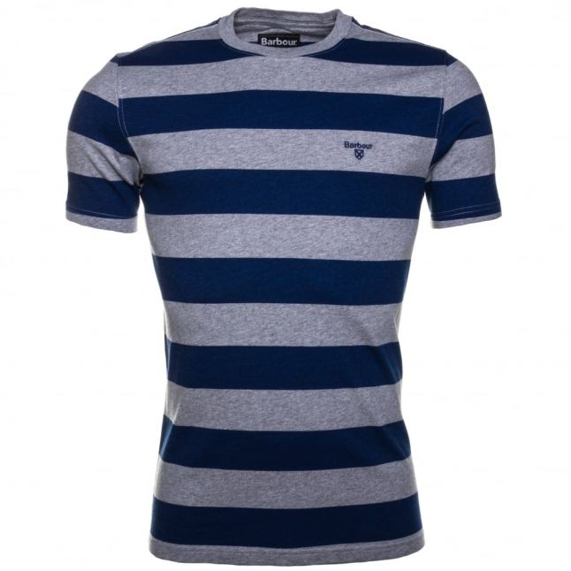 Lifestyle Mens Inky Blue Stannersburn Striped S/s Tee Shirt
